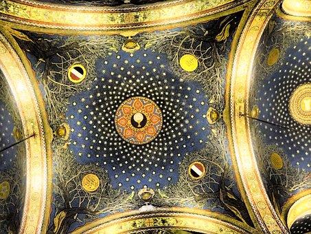 Church, Ceiling, Basilica Of The Agony