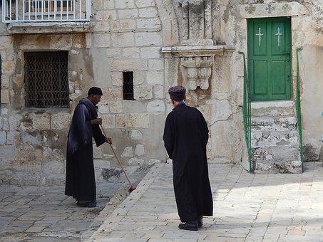Coptic, Priest, Christian, Servant, Jerusalem, Holy