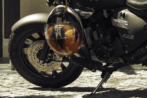 Motorcycle, Detail, Helmet, Wheel, Motorbike, Classic