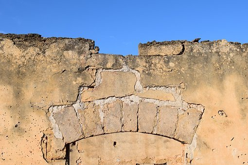 Ruin, Archway, Wall, Remains Of A Wall, Close Up, Old