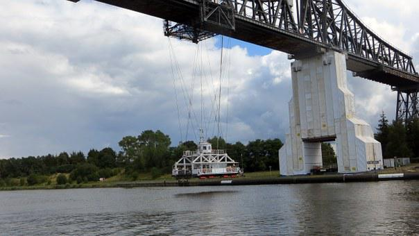 Transporter Bridge, Ferry, Bridge, Crossing, Rendsburg