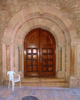 Door, Entrance, Jerusalem, Israel, Architecture, Front