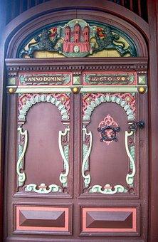 Rendsburg, Germany, Door, Doors, Doorway, Ornate