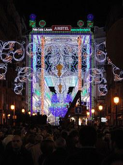 Light, Led, Party, Failures, Valencia, Night, Event