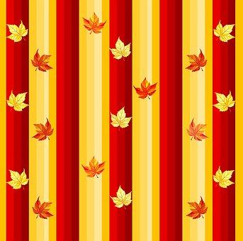 Autumn, Fall, Leaves, Vertical, Stripes, Orange
