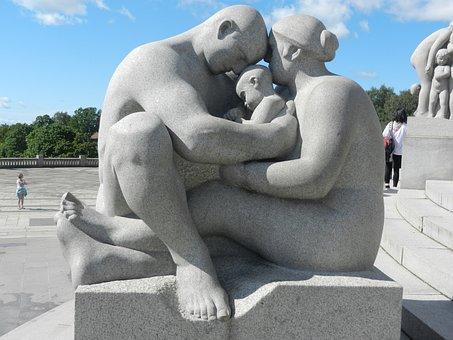 Art, Family, Stone, Sculpture, Vigeland Installation