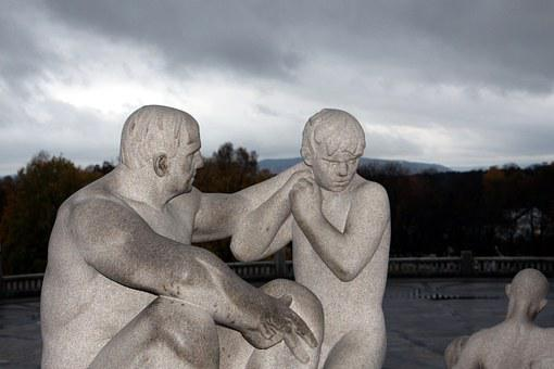 Oslo, Norway, City, Art, Holiday, Figures