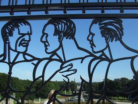 Vigeland, Frogner, Frognerpark, Men, Art, Park, Fence