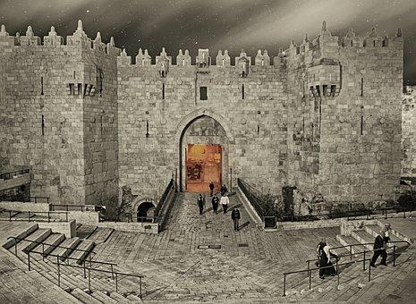 Jerusalem, Damašská Gateway, Gateway, Israel, Old Town