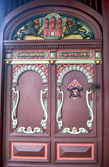 Rendsburg, Germany, Door, Doors, Doorway, Ornate