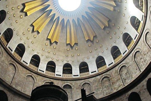 Israel, Jerusalem, Holy Sepulchre, Dome, Smoke, Incense