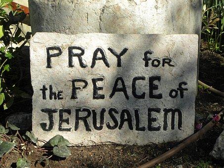 Pray, Peace, Israel, Jerusalem, Sign, Religion