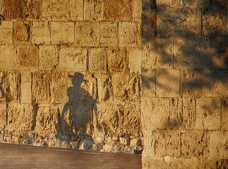 Shadows, Wall, Jerusalem, Light, West Wall, People