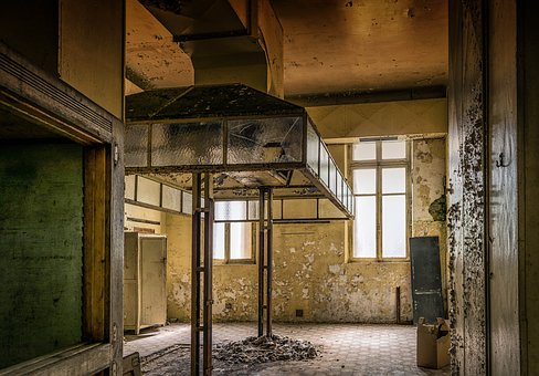Lost Places, Kitchen, Hotel, Pforphoto, Run Down