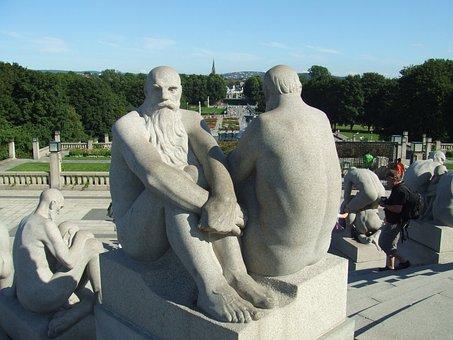Vigeland, Frogner, Frognerpark, Men, Concrete, Statue