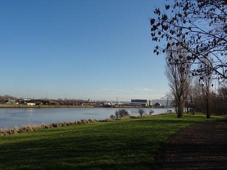 Bridge, River, Industry, Tees, Middlesbrough