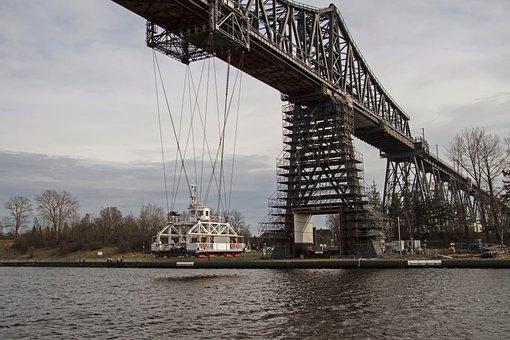 Transporter Bridge, Rendsburg, North America, Ferry