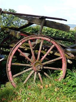 Old, Wooden Wheel, Nostalgia, Spokes, Wooden Wheels