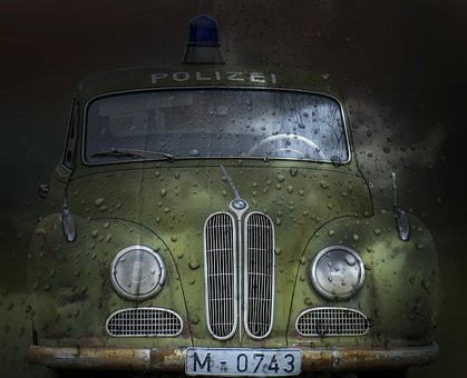 Police Car, Old Timer, Movie Car, Isar12, Auto, Old