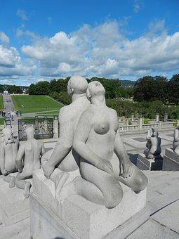 Art, Pair, Stone, Sculpture, Vigeland Installation