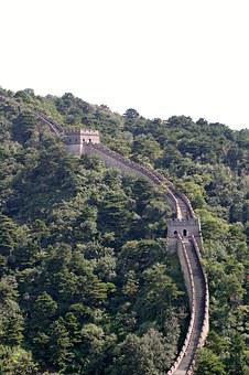 Chinese, Wall, Large, Great Wall, Places Of Interest