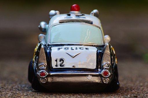 Police, Auto, Sherriff, Police Car, Retro, Patrol Car