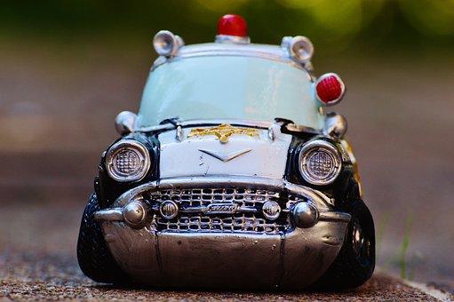 Police, Auto, Police Car, Retro, Patrol Car, Model Car