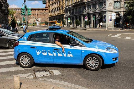Police, Polizia, Road, Control, Patrol, Car, Safety