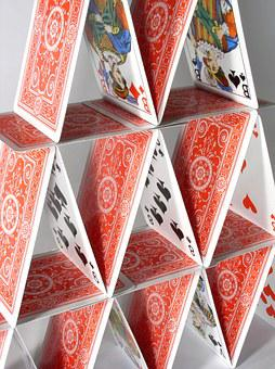 House Of Cards, Fragile, Playing Cards, Risk, Risky