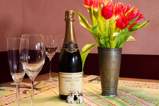 Celebration, Festival, Tulips, Bouquet, Tablecloth