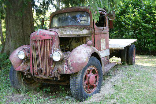 Vintage Truck, Old, Rust, Wreck, Vehicle, Truck