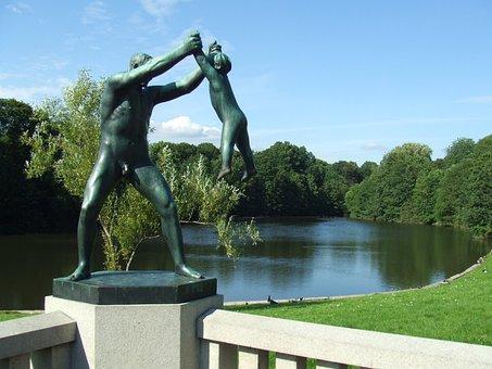 Vigeland, Frogner, Frognerpark, Naked, Oslo