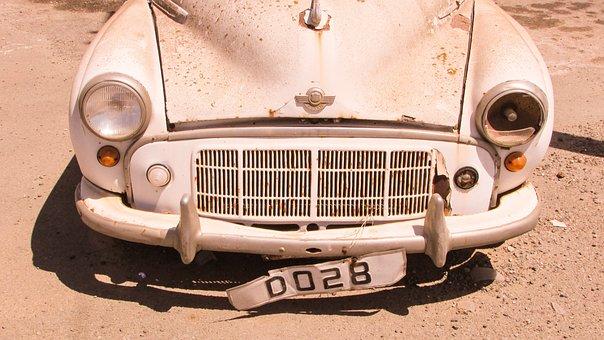 Morris, Car, Old Abandoned, Rusty, Vintage, British