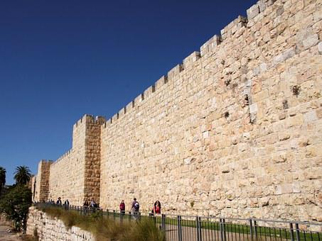Jerusalem, City Wall, Fixing, Wall, Israel, Holy City