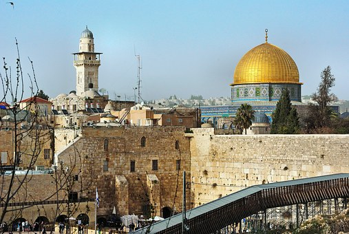 Israel, Jerusalem, Dome, Dome Of The Rock, Wall
