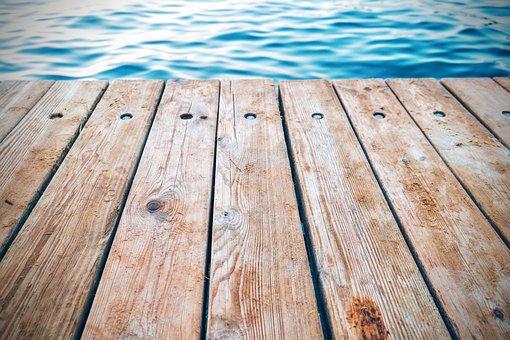 Pontoon, Raft, Boat Bridge, Water, Lake