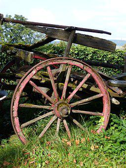 Old, Wooden Wheel, Nostalgia, Spokes, Wooden Wheels