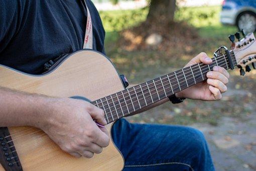 Guitarist, Musician, Instrument, Acoustic, Music