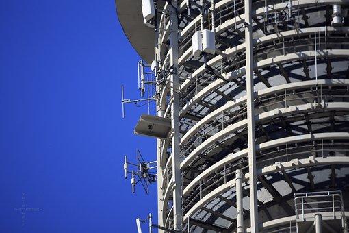 Berlin, Alexanderplatz, Tv Tower, Antennas, Close Up