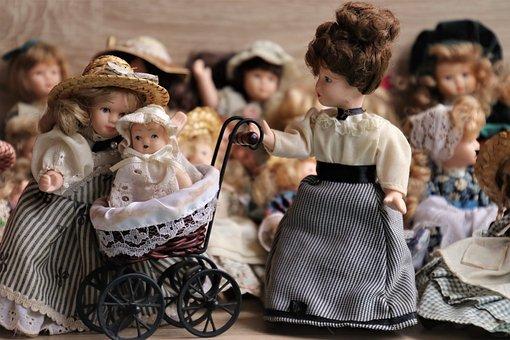 Dolls, Porcelain, Retro, Historically, Antiques, Head