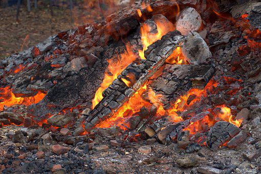 Fire, Embers, Campfire, Barbecue, Fireplace, Flame, Hot