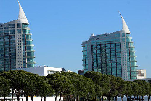 Trees, Lisbon, Portugal, Atlantic, Costa, Bridge