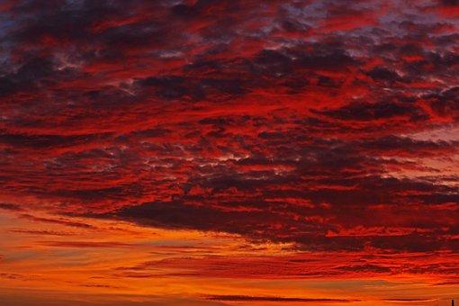 Evening Sky, Sunset, Abendstimmung, Sky, Dusk