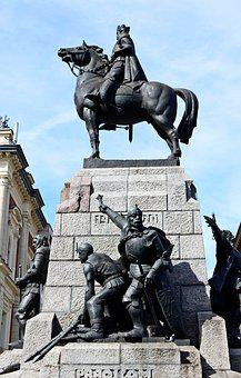 Kraków, Monument, King, The Horse, Knights, Poland