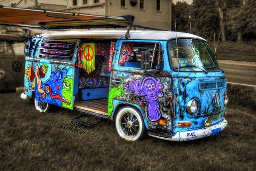 Van, Antique, Collectible, Vintage, Mini Van, Retro