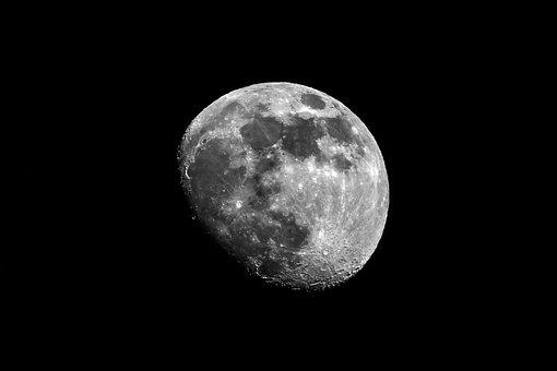 Moon, Increasingly, Night, Zoom, Tele, Okult, Sky