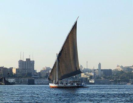 Sailboat, The Sail, Boat, Water, River, Lake, Nil