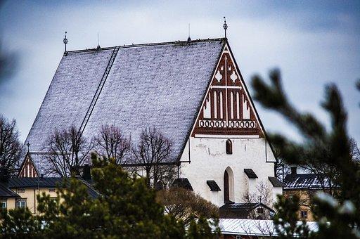 Church, Old, Building, Porvoo, Finnish, Finland