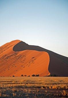 Desert, Sand, Red, Namibia, Red Sand, Landscape, Dry