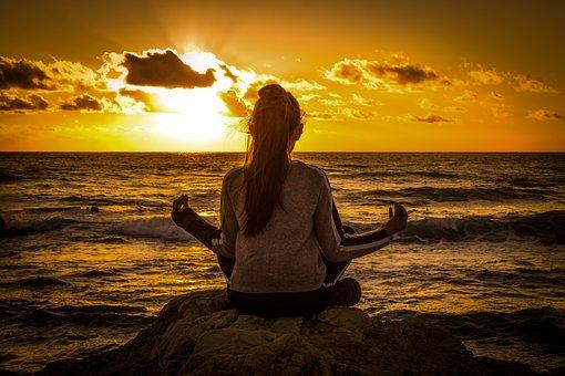 Girl, Sunset, Meditation, Relaxation, Spirituality